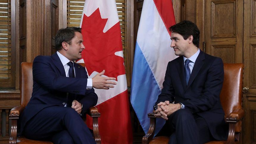 Xavier Bettel e Justin Trudeau