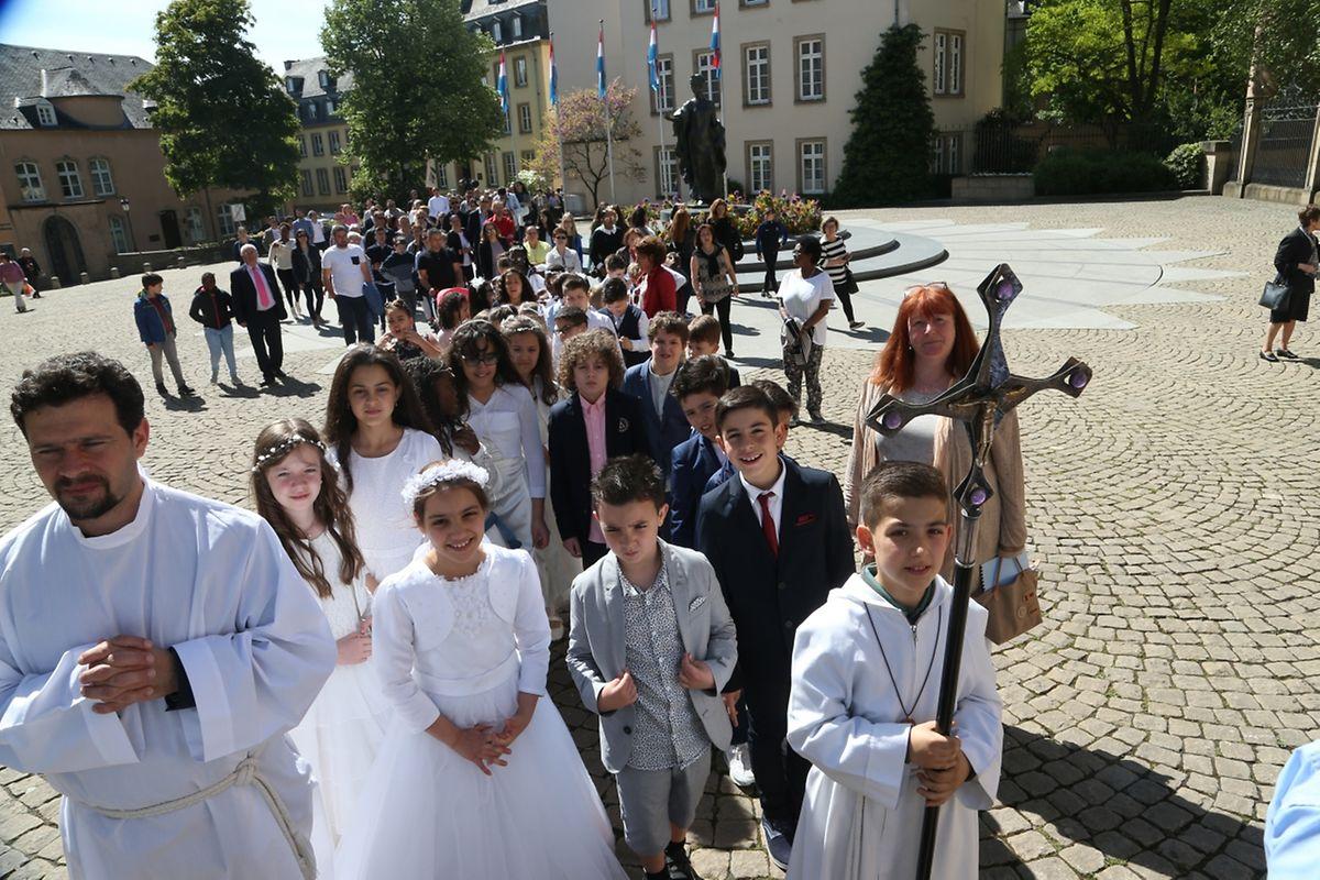 """Messe für """" Lëtzebuerg Notre-Dame """" ( Bouneweg - Hamm)."""