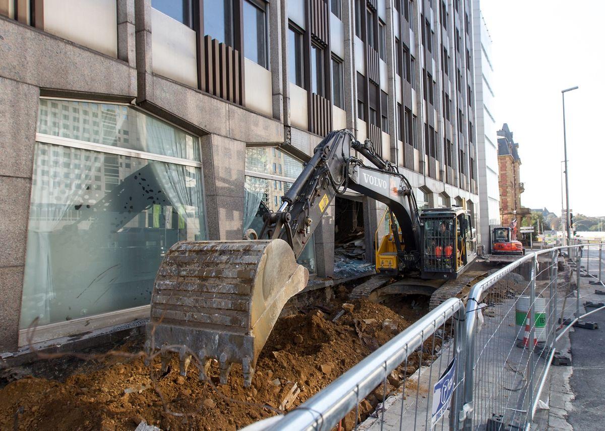 Les travaux de démolition ont d'ores et déjà commencé