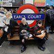 Station de métro, à Londres, le 6 juin.