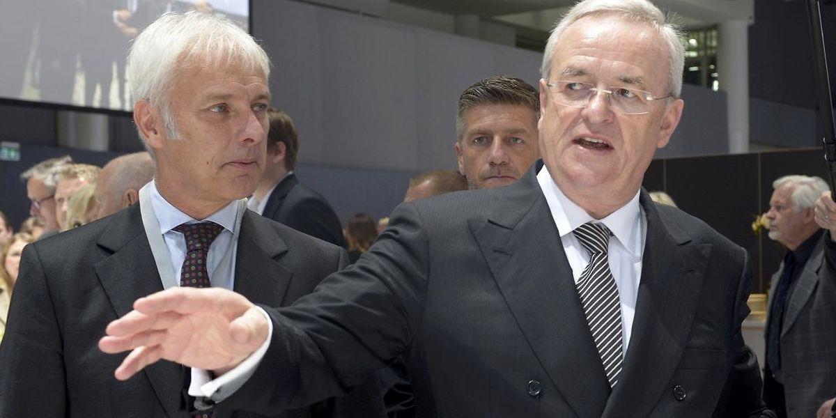 Porsche-Chef Matthias Müller (r.) wird als Nachfolger von VW-Vorstandschef Martin Winterkorn gehandelt.