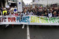 """Aufmarsch für das Klima in Brüssel am 2. Dezember: """"Claim the Climate""""."""