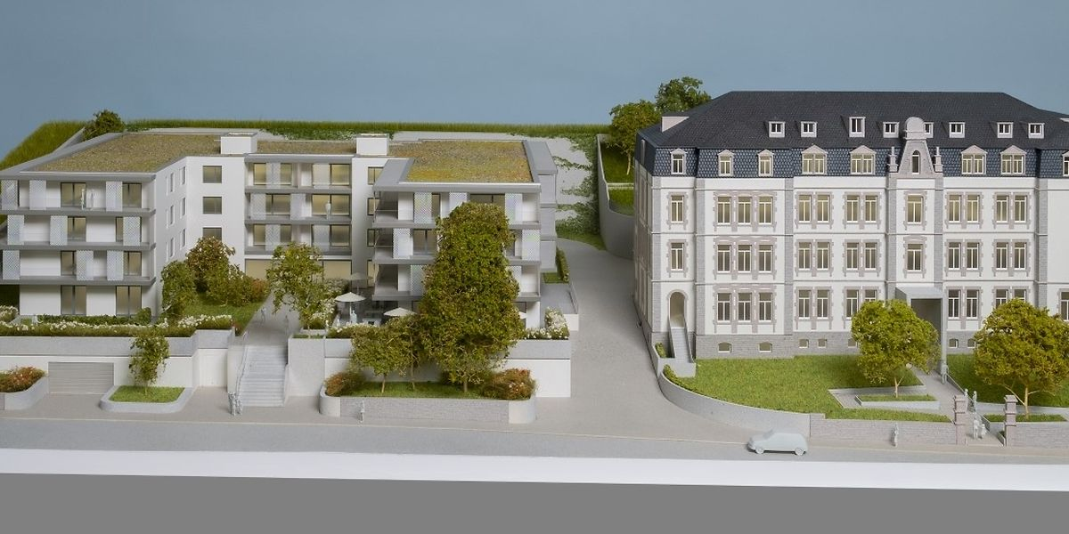 Die 37 Wohnungen umfassende Seniorenresidenz und das benachbarte, zur Maison relais umgestaltete Pensionat sollen später an der Diekircher Rue del'Hôpital ein intergenerationelles Vorzeigeprojekt bilden. Noch ist die Idee aber nicht mehr als ein Entwurf.