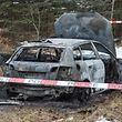 26.1. Strassen / Uberfall Parking Bank / Auto in Strassen im Wald verbrannt aufgefunden Foto:Guy Jallay