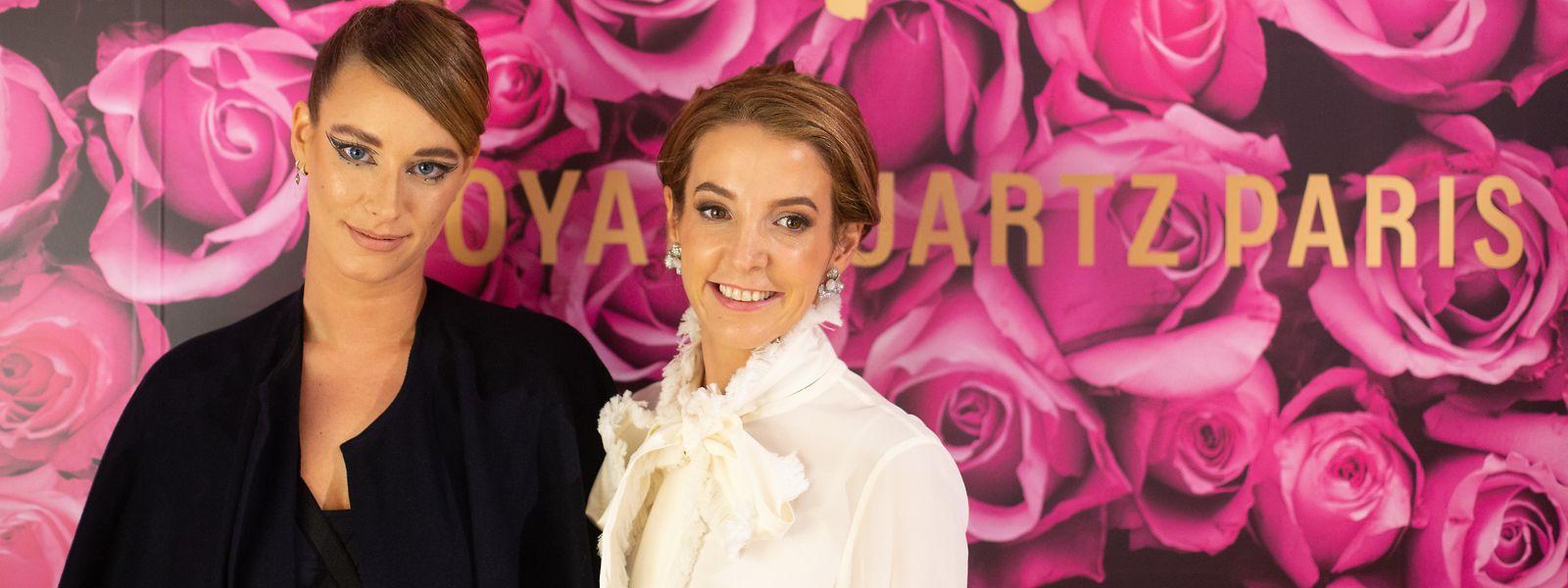 Tessy Antony de Nassau (rechts) und Mandy Graff anlässlich einer Modenschau in der Galerie Lafayette im Oktober 2020.