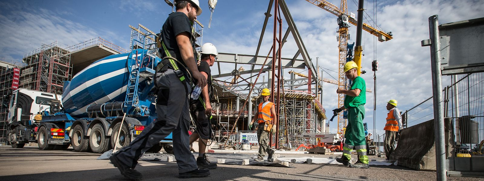 Die Baubranche verzeichnet einen Rückgang von 1,5 Prozent gegenüber dem zweiten Quartal.