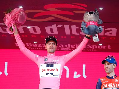 O holandês Tom Dumoulin, vencedor do Giro