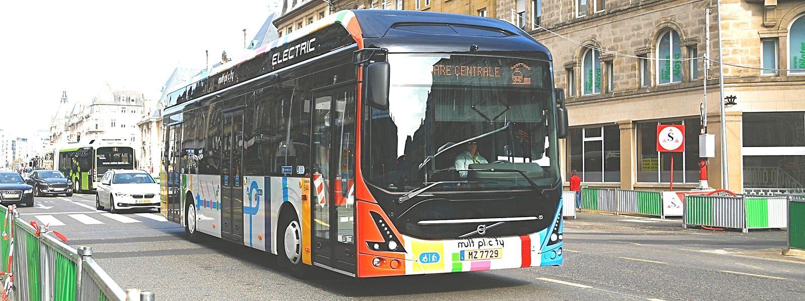 Pour assurer le nouveau service, la Ville met en service des bus électriques de 10 mètres.