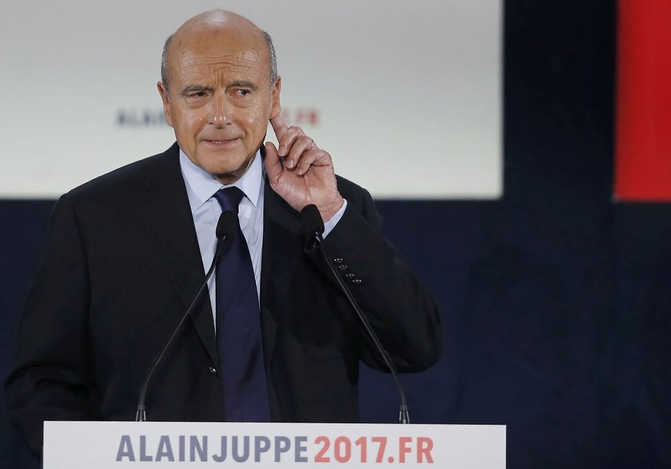 French politician Alain Juppe, current mayor of Bordeaux, a member of the conservative Les Republicains political party and candidate for the centre-right presidential primary