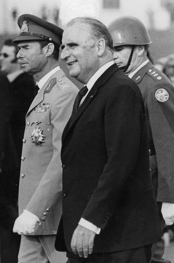 Pompidou mit Großherzog Jean.