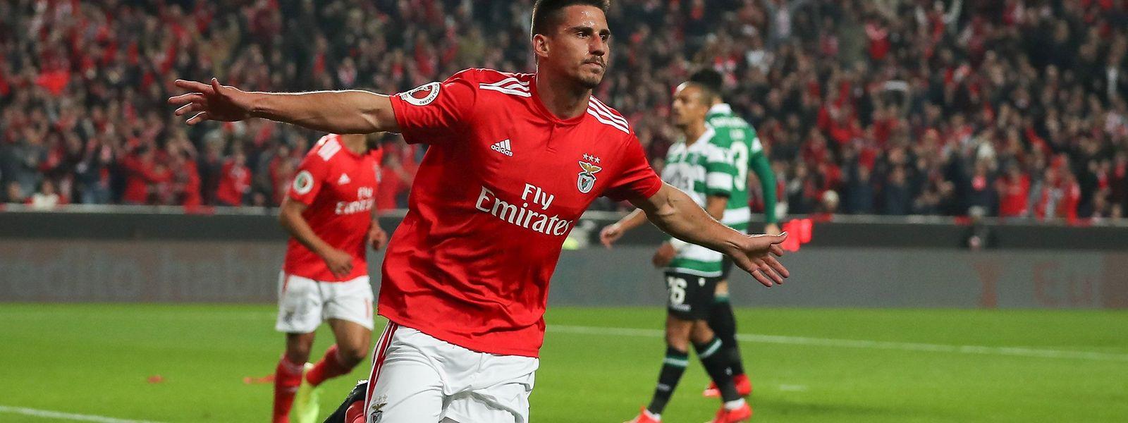Gabriel abriu o marcador para o Benfica no estádio da Luz.