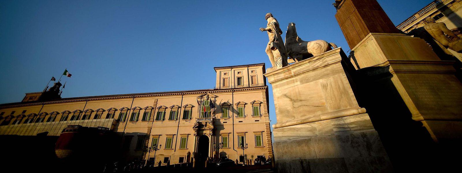Der Quirinalspalast in Rom, der Dienstsitz des Präsidenten der Italienischen Republik.