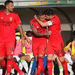 Benfica vence em Tondela e fica a apenas um ponto do FC Porto