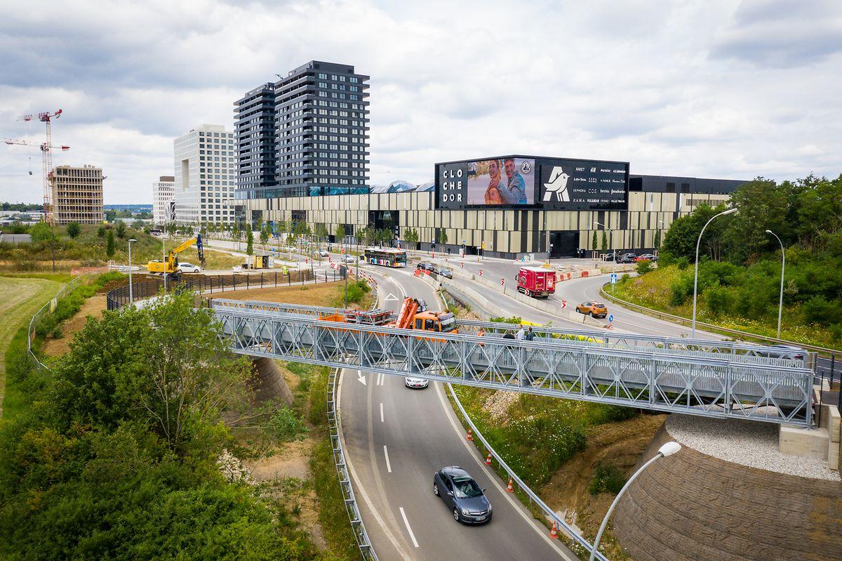 La nouvelle piste offre enfin un parcours sécurisé aux nombreux employés du nouveau quartier du Ban de Gasperich.