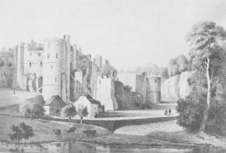Das Schloss Befort gegen 1848 nach einem Gemälde von J.B. Frezez