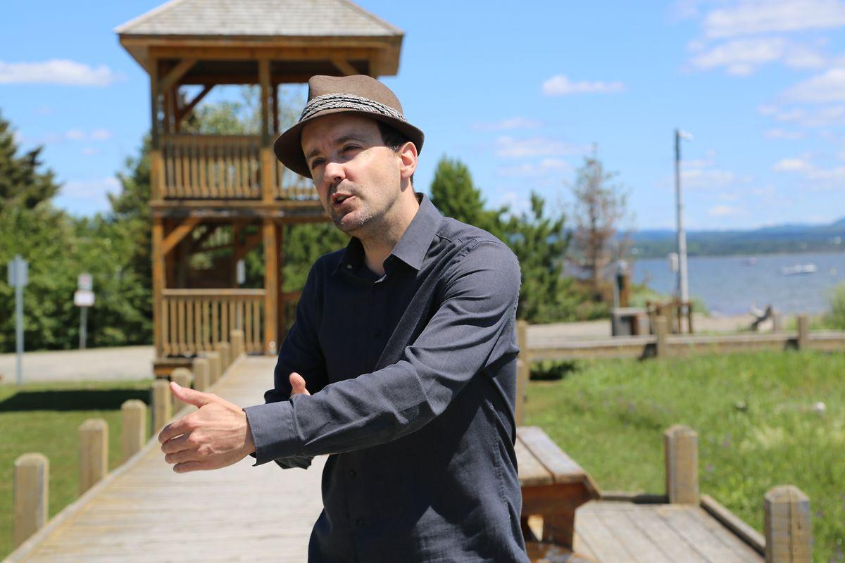Christian Leblanc, maire de Maria, un village gaspésien de 1.500 habitants en proie à l'érosion.