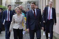 Pol, Ursula von der Leyen, Xavier Bettel,  Foto: Chris Karaba/Luxemburger Wort