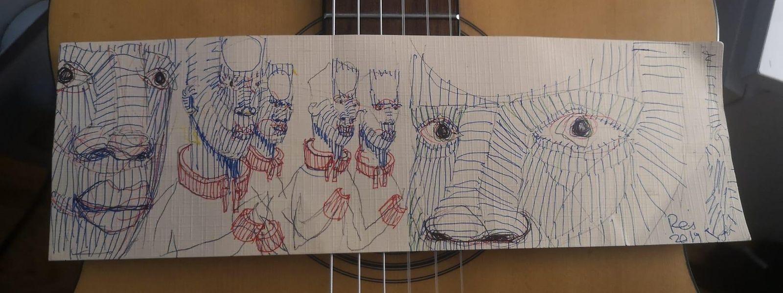 Desenho de autoria de Reinaldo Rodrigues