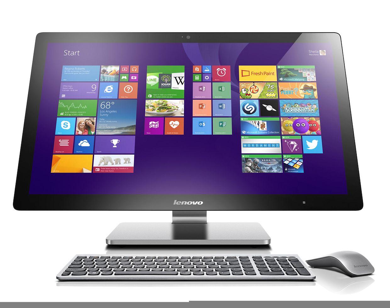 Lenovos A740 (ca. 1.500 Euro) verbindet Computer und Tablet miteinander. Das Gerät hat einen Touchscreen und lässt sich ohne Tastatur bedienen.