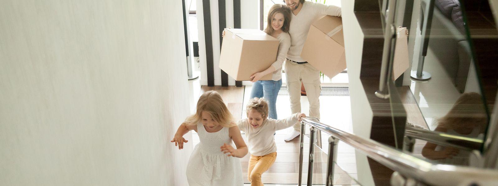 Haus Umzug Familie Kinder