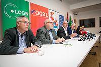 PK-OGBL, LCGB, CGFP/Sozialdialog - Foto: Pierre Matgé/Luxemburger Wort