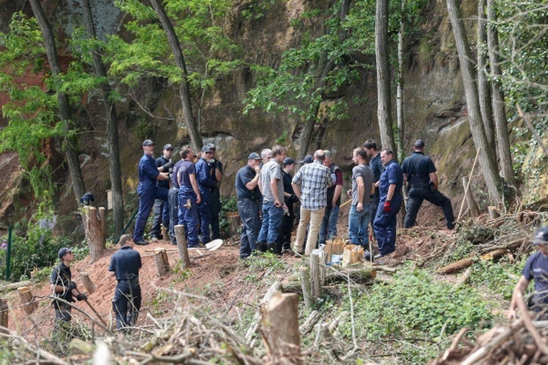 An dieser Stelle wurden die sterblichen Überreste von Tanja Gräff am Montag gefunden.