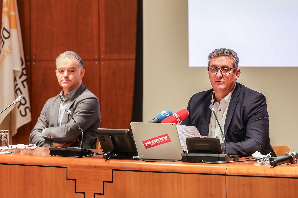 Michel Reckinger (l.) und Romain Schmit