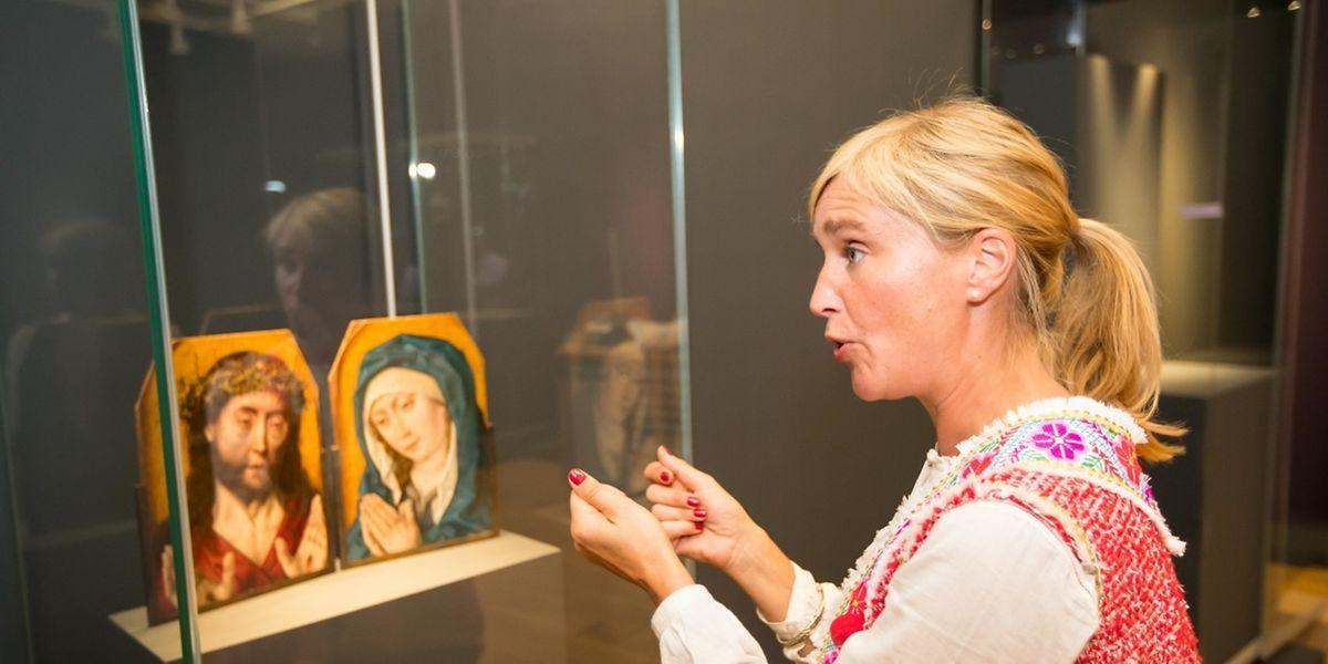 """Eines der MNHA-Prunkstücke darf Kuratorin Valentine Henderiks inszenieren: Albrecht Bouts """"Christus mit der Dornenkrone und Mater Dolorosa""""."""