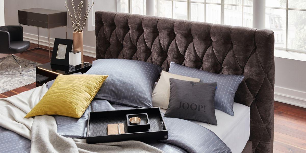 Wenn Modelabels Wohnaccessoires produzieren: Joop!Living zum Beispiel verkauft auch Bettwäsche.
