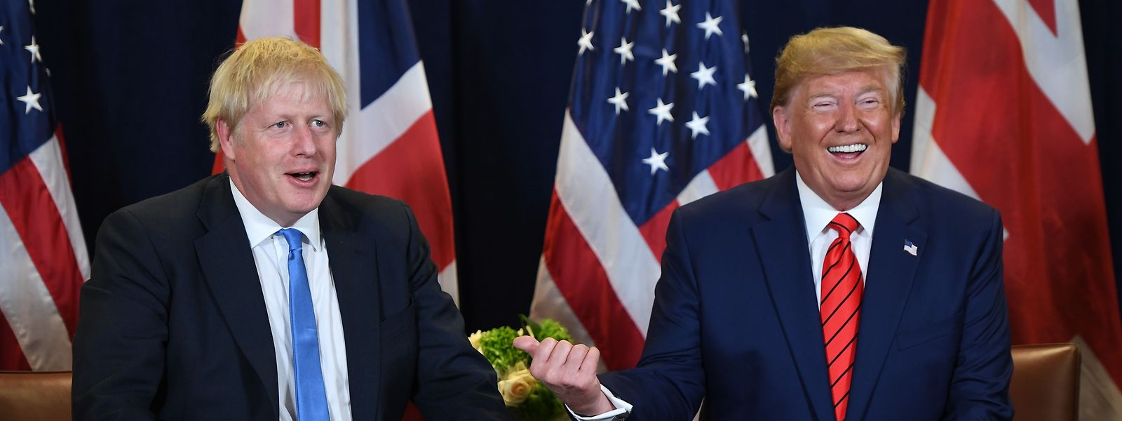 24. September 2019: Boris Johnson und Donald Trump treffen sich im UN-Hauptquartier in New York.