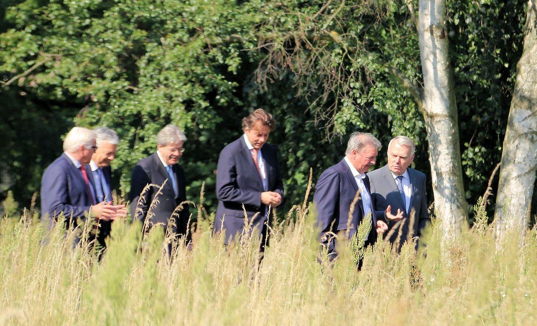 Jean Asselborn avec ses homologues, ées ministres des Affaires étrangères de l'Allemagne, la Belgique, la France, de l'Italie, et des Pays-Bas