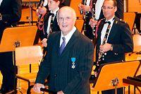 17.11.Conservatoire VdL / Concert Musique Militaire et Chorale / Ordre National du Merite , France / Pierre Nimax sen.dirigierte den Eroeeffnungsmarsch  Foto: Guy Jallay