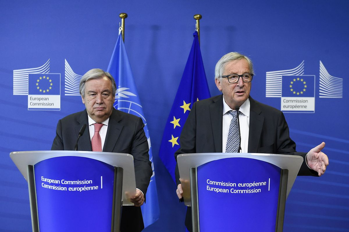 António Guterres e Jean Claude Juncker.