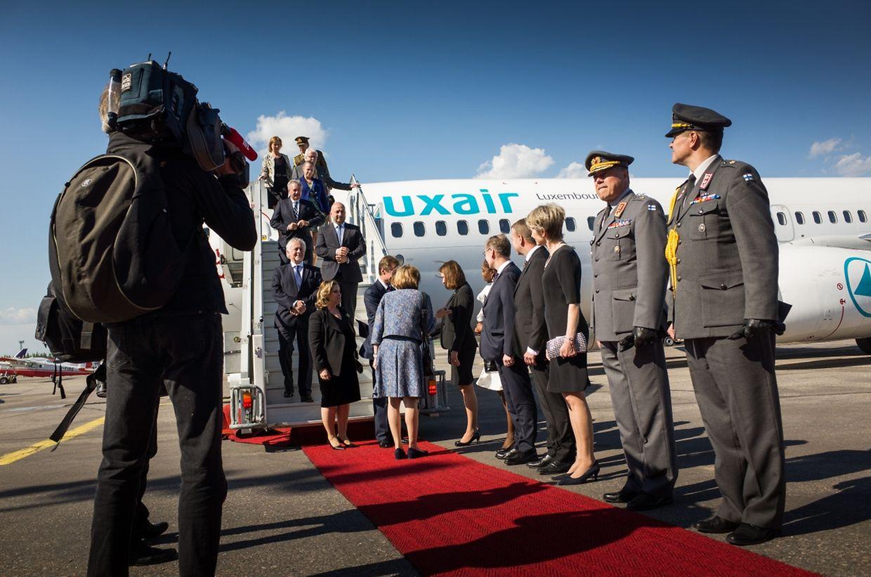 L'arrivée à l'aéroport d'Helsinki.