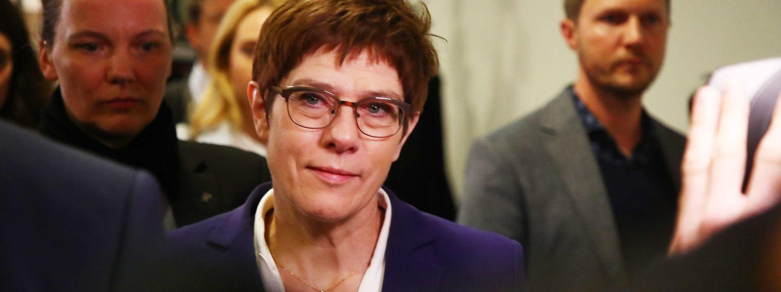 Annegret Kramp-Karrenbauer, CDU-Vorsitzende, hielt sich für nächtliche Verhandlungen in Erfurt auf.
