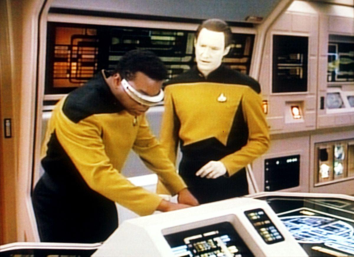"""Seine größte Rolle: LeVar Burton (l.) als Geordi LaForge auf der """"Enterprise""""."""