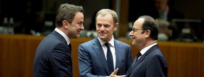 Die Staats- und Regierungschefs treffen am Mittwoch in Brüssel zusammen unter der Leitung von Ratspräsident Donald Tusk (M.). An dem Termin nimmt auch Luxemburgs Premier Xavier Bettel teil.