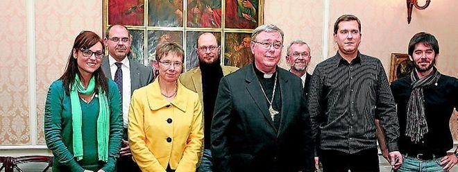 """""""Ein guter Meinungsaustausch"""": Erzbischof Hollerich und seine Mitarbeiter wollen den Dialog mit den Vertretern der AHA fortsetzen."""