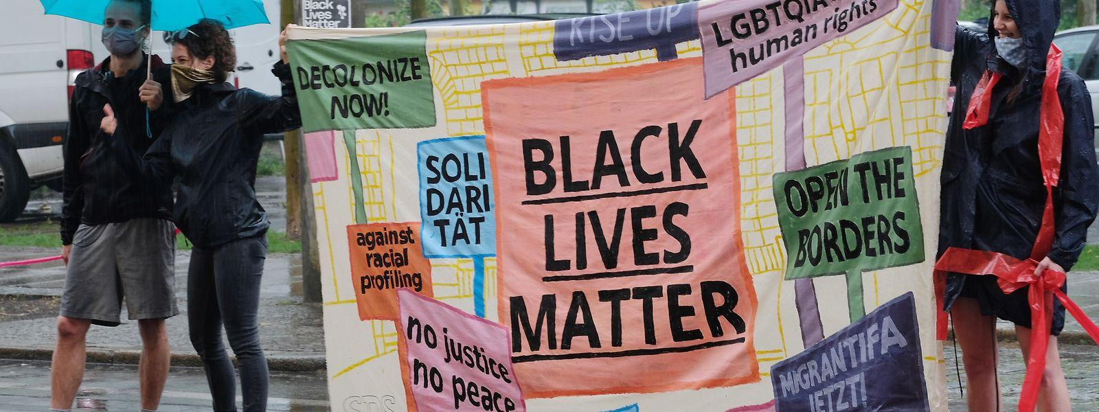 """Black Lives Matter""-Demo in Leipzig."
