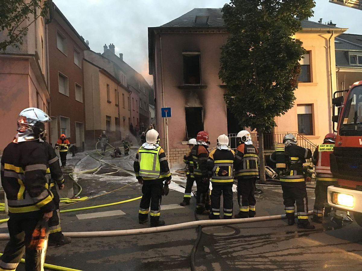 Die Feuerwehren aus Düdelingen und Kayl waren im Einsatz.