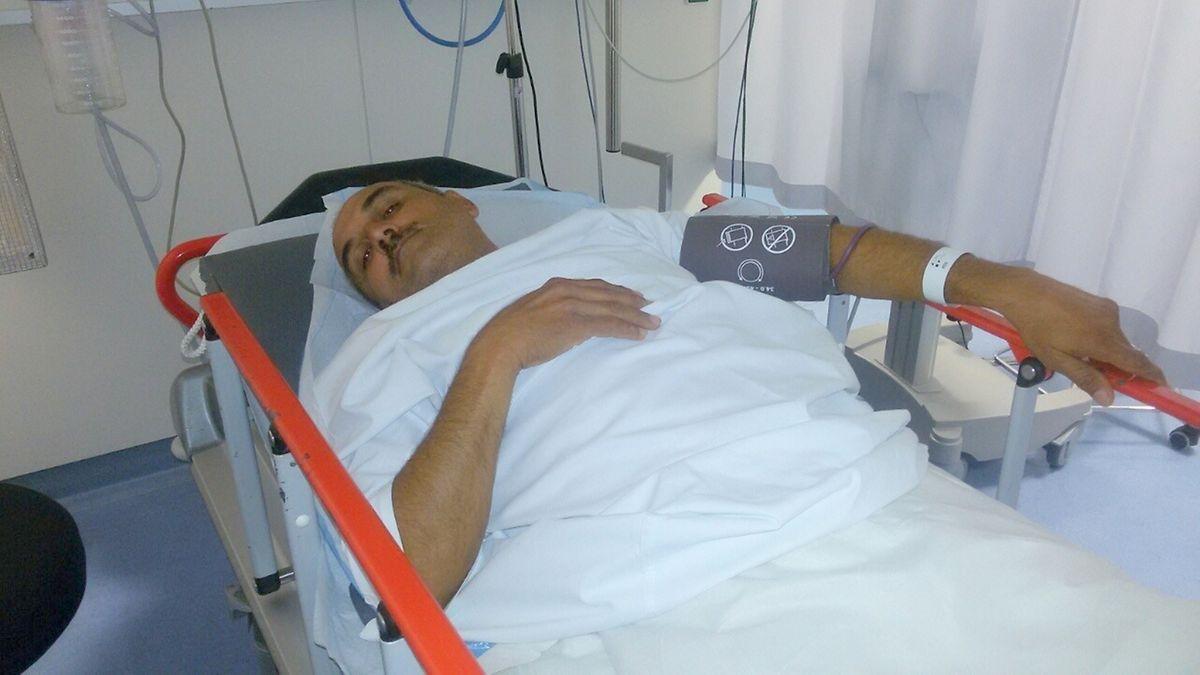 Raed im Krankenhaus in Luxemburg.