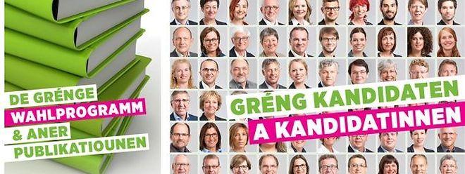 Für die Wahlen haben die Grünen ihren Internetauftritt leicht überarbeitet