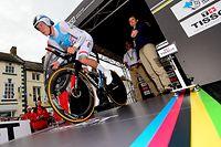 Bob Jungels (L) am Start - UCI-Straßenweltmeisterschaften 2019 in Yorkshire - Zeitfahren Männer - Foto: Serge Waldbillig