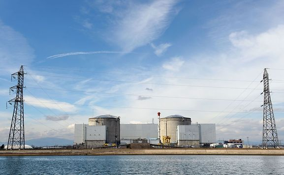 This file photo taken on March 14, 2011 shows Fessenheim nuclear power plant, the oldest nuclear power plant in France.