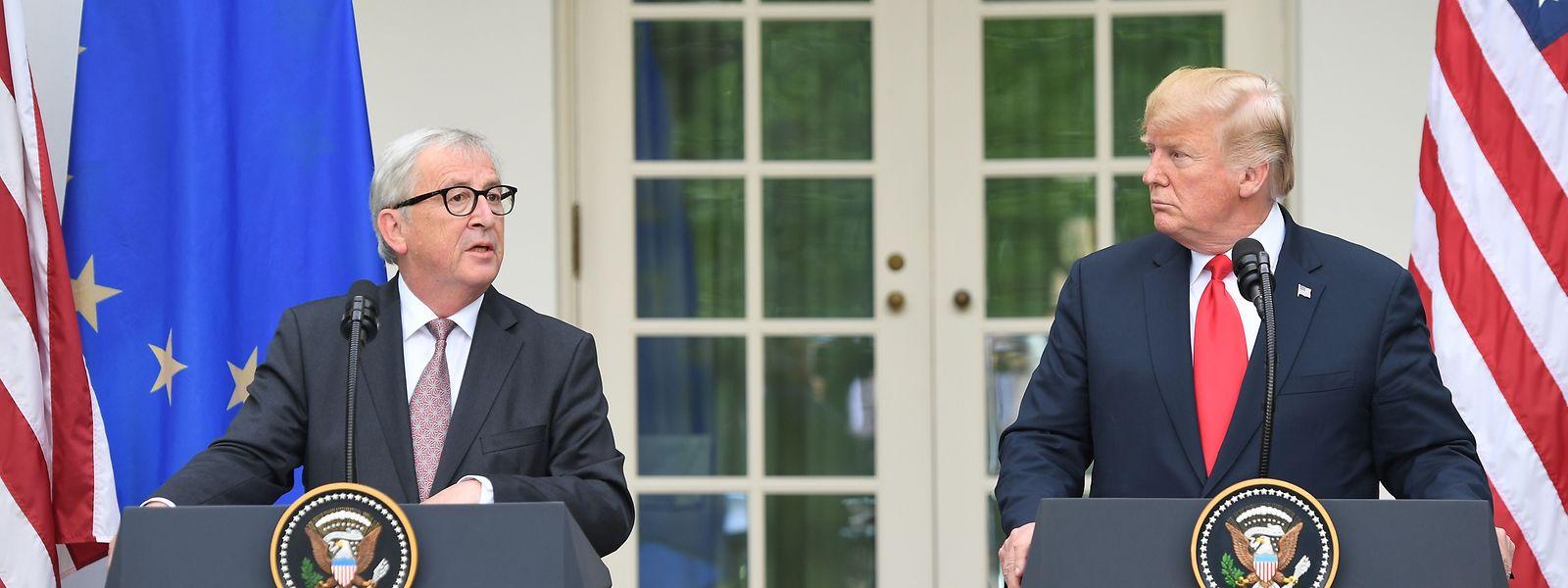 Juncker und Trump hatten sich im Juli in Washington getroffen.