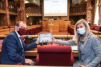 IPO,PK Etgen/Kemp-Arendt: Neuer Internetsite für Petitionen.Foto: Gerry Huberty/Luxemburger Wort