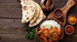 Tandoor specialities like the classic chicken tikka masala are on the menu at many restaurants