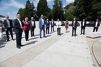 Politik, Partei DP, Pressekonferenz, Gilles Baum und Fraktion,   Foto: Anouk Antony/Luxemburger Wort