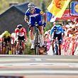Julian Alaphilippe (F/Quick-Step) gewinnt die Flèche Wallonne 2018 vor Alejandro Valverde (E/Movistar) und Jelle Vanendert (B/Lotto Soudal).