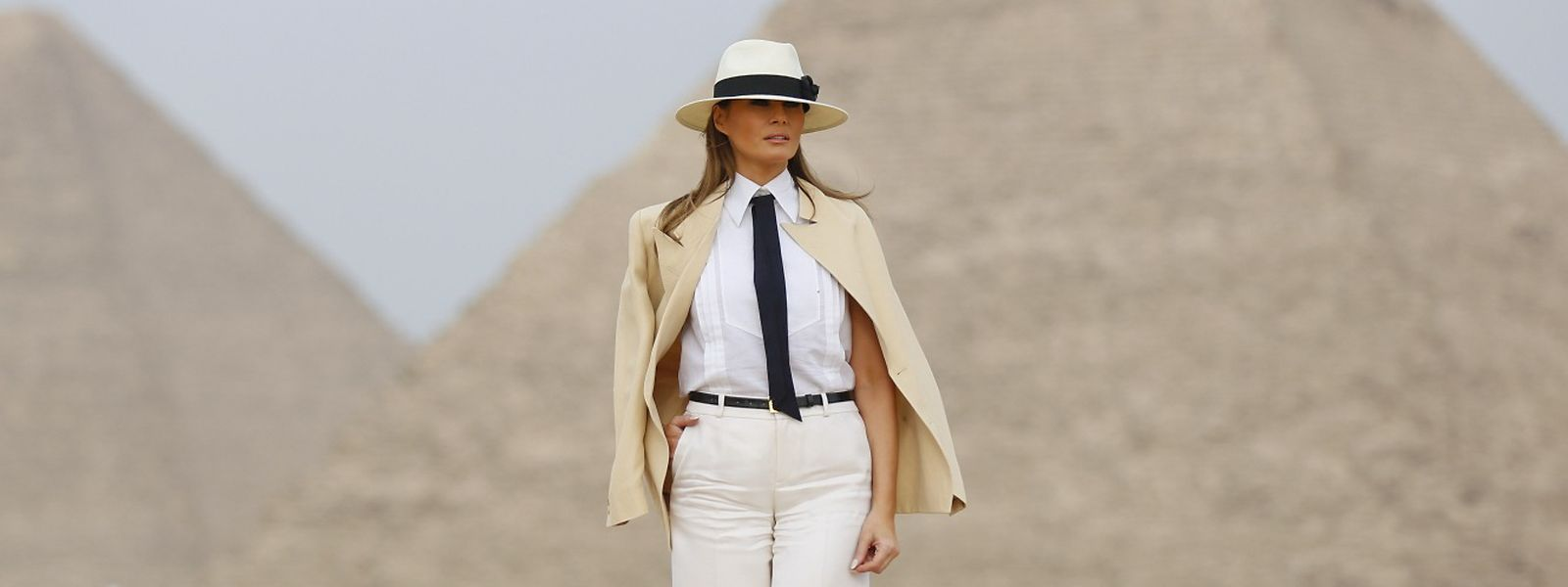 In Pose vor Pyramiden: Melania Trump gilt als Stilikone.